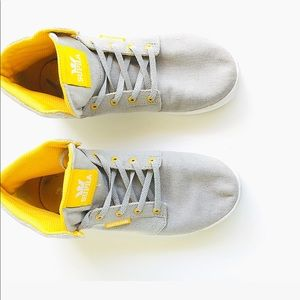 Supra Kids York's Gray & Yellow High Tops | SZ 5